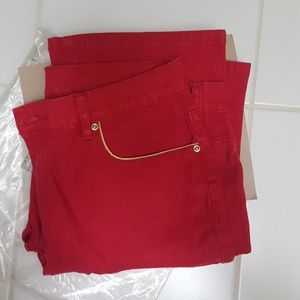 NWT DG2 RED BOOTCUT JEANS